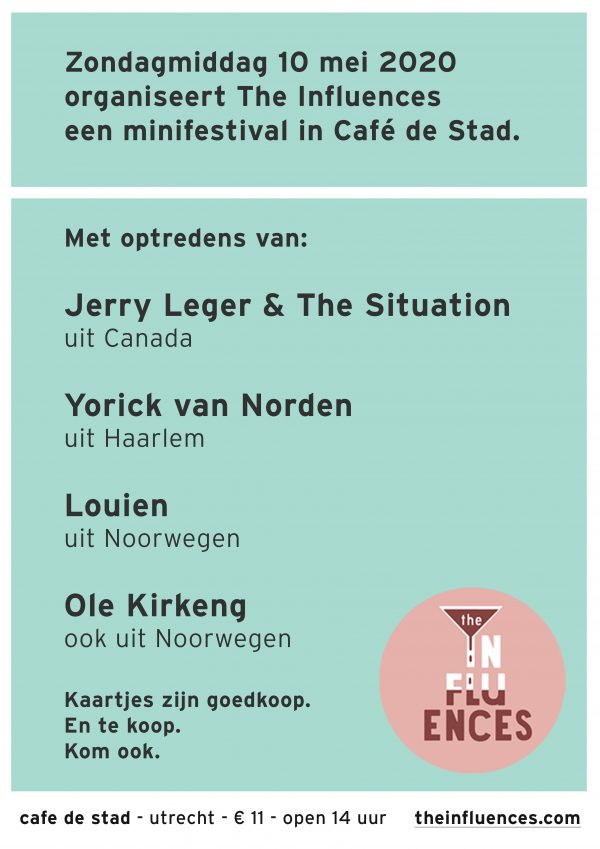The Influences minifestival - 10 mei 2020